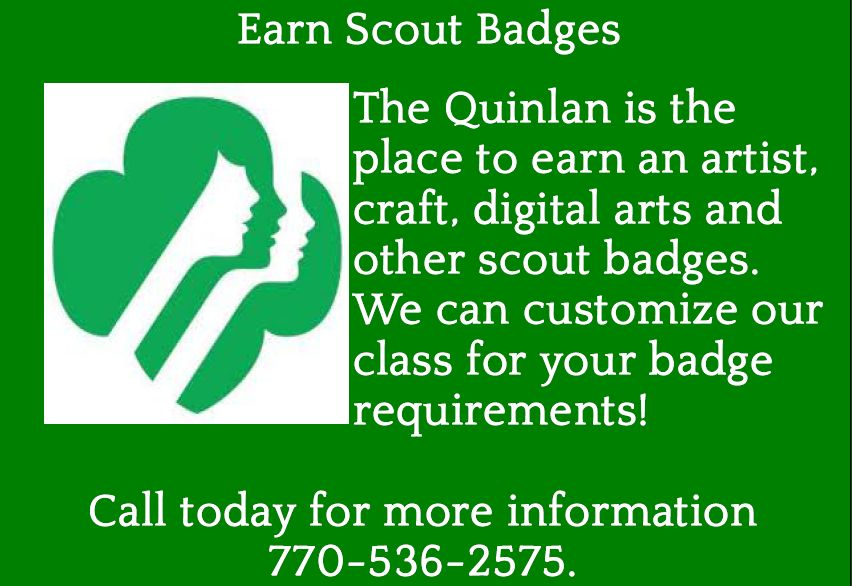 Girl Scout Badges - Quinlan Visual Arts Center